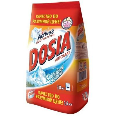 Стиральный порошок DOSIA Альпийская свежесть 1.8кг сарма activ стиральный порошок ландыш универсальный для всех видов стирки 2 4кг