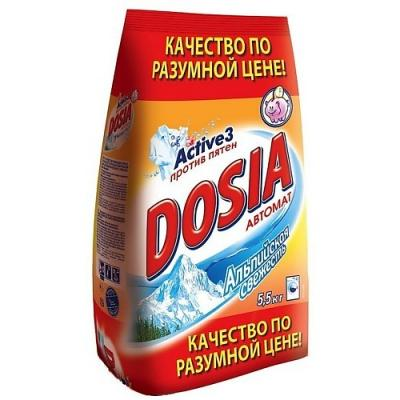 Стиральный порошок DOSIA Альпийская свежесть 5.5кг dosia концентрат ополаскивателя для белья альпийская свежесть 1л
