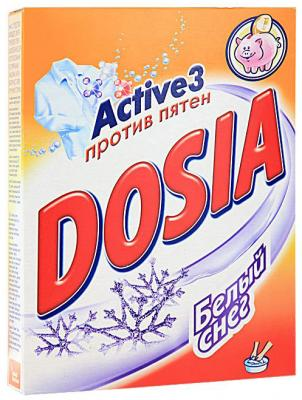 DOSIA Стиральный порошок для ручн.стирки Белый снег 365 гр рб dosia стир порошок авт белый снег 1 8кг 953037