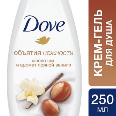 DOVE Крем-гель для душа Масло Ши и ваниль 250мл giorgio armani si гель для душа si гель для душа
