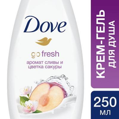 DOVE Крем-гель для душа Слива и цветы сакуры 250 мл косметика для мамы fa крем гель для душа frozen yoghurt аромат ореха макадамии 250 мл