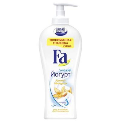 Fa Крем-гель для душа Греческий йогурт Миндаль экономичный формат 750мл набор fa греческий йогурт гель д душа 250мл мыло 2шт х90г
