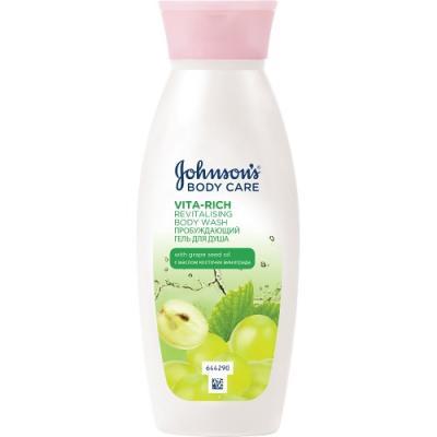 цена на Johnsons Body Care VITA-RICH Гель для душа с экстрактом Виноградной косточки 250 мл