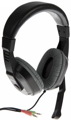 Игровая гарнитура проводная Ritmix RH-534M черный серый