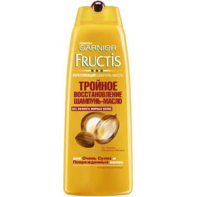 Шампунь-масло Garnier Fructis Тройное восстановление 400 мл garnier fructis масло эликсир преображение 150мл