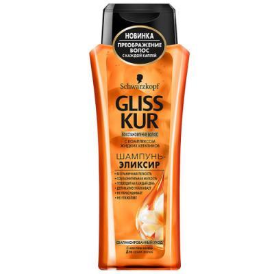 Шампунь-эликсир Gliss Kur Сбалансированный уход с маслом понои 250 мл сыворотки gliss kur сыворотка гиалурон заполнитель 60 мл