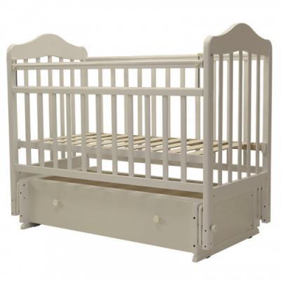 Купить Кроватка с маятником Топотушки Мальта-7 (арт. 41/слоновая кость), береза, Кроватки с маятником