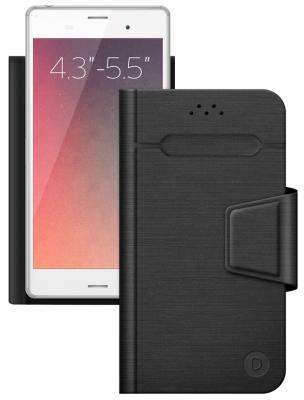 Чехол-подставка Deppa для смартфонов Wallet Fold M 4.3''-5.5'' черный 87005 fl 039 cu helios