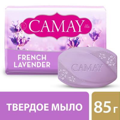 Мыло твердое CAMAY Французская лаванда 80 гр 67048268 косметика для мамы la cigale мыло твердое cigale bio с эфирным маслом лаванды 100 г