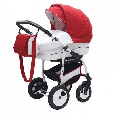 Коляска 2-в-1 Polmobil Porto (01/красный-белый) коляска rudis solo 2 в 1 графит красный принт gl000401681 492579