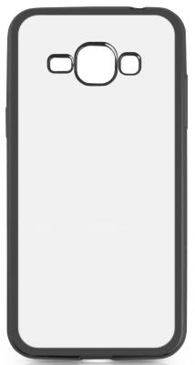 Чехол силиконовый DF sCase-27 с рамкой для Samsung Galaxy J1 2016 черный