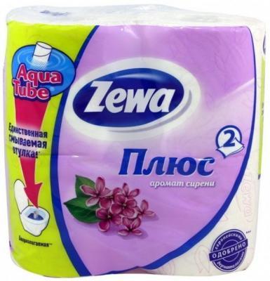 Бумага туалетная Zewa Плюс 2-ух слойная ароматизированная 4 шт туалетная бумага belux арома 4шт ягоды mix 931460