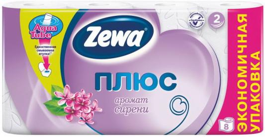Бумага туалетная Zewa Плюс 2-ух слойная ароматизированная 8 шт туалетная бумага анекдоты ч 8 мини 815605