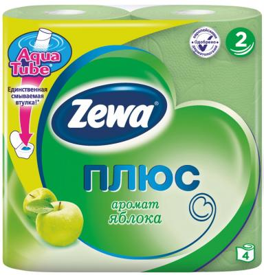 Бумага туалетная Zewa Плюс 2-ух слойная ароматизированная 4 шт туалетная бумага анекдоты ч 8 мини 815605