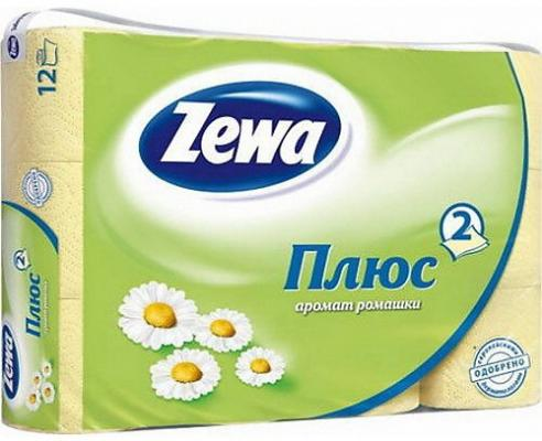 Бумага туалетная Zewa Плюс 2-ух слойная ароматизированная 12 шт