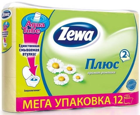 Бумага туалетная Zewa Делюкс 3-ех слойная ароматизированная 12 шт туалетная бумага 500 евро