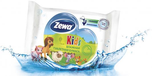 Бумага туалетная Zewa Детская влажная 42 шт туалетная бумага 500 евро
