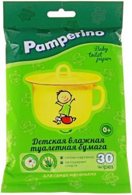 Бумага туалетная Pamperino Детская влажная 30 шт влажная туалетная бумага kleenex cleancare 42 шт влажная гипоаллергенные 9440080
