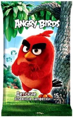 Салфетки влажные Angry Birds Movie №15 не содержит спирта 15 шт в ассортименте жевательная конфета angry birds в стиках 25гр
