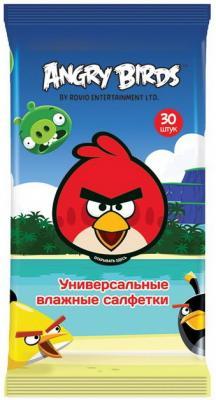 Салфетки влажные Angry Birds Techpoint гипоаллергенные 30 шт angry birds игрушки москва