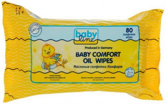 Салфетки влажные Babyline Комфорт не содержит спирта 80 шт babyline влажные салфетки комфорт 80 шт babyline