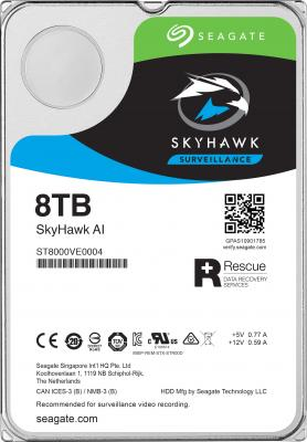 "Жесткий диск 3.5"" 8 Tb 7200rpm 256Mb cache Seagate SkyHawkAI SATAIII ST8000VE0004 цена и фото"
