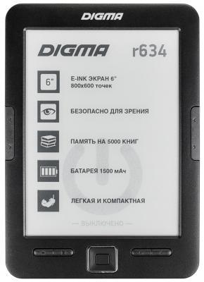 Электронная книга Digma R634 6 E-Ink 4Gb черный