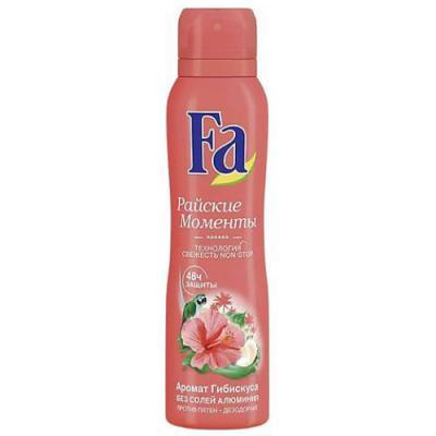 Дезодорант-антиперспирант Fa Райские моменты 150 мл цветочный косметика для мамы fa крем гель для душа райские моменты 250 мл