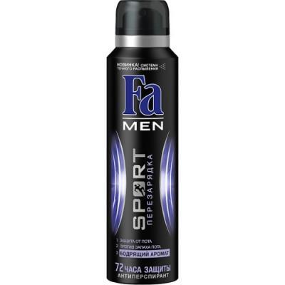 FA MEN Дезодорант-антиперспирант аэрозоль Sport Перезарядка 150мл антиперспирант maxim dabomatic 30% дезодорант максим