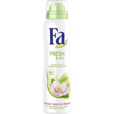 Fa Дезодорант-антиперспирант аэрозоль Fresh&Dry Цветок Вишни 150мл шолль дезодорант антиперспирант fresh step для ног 150мл