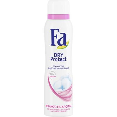 "Дезодорант-антиперспирант Fa ""Dry Protect - Нежность хлопка"" 150 мл fa дезодорант антиперспирант аэрозоль floral protect мак"