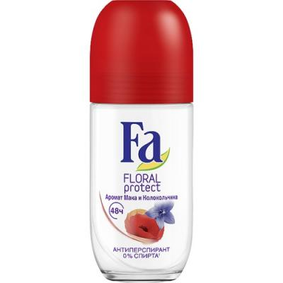 "Дезодорант-антиперспирант Fa ""Floral Protect Мак & Колокольчик"" 50 мл цветочный fa дезодорант антиперспирант аэрозоль floral protect мак"