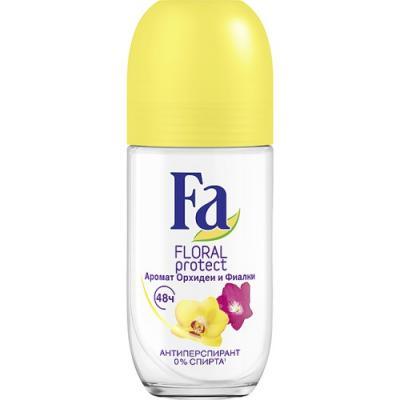 "Дезодорант-антиперспирант Fa ""Floral Protect"" 50 мл цветочный fa дезодорант антиперспирант аэрозоль floral protect мак"