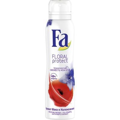 "Дезодорант-антиперспирант Fa ""Floral Protect Мак & Колокольчик"" 150 мл цветочный fa дезодорант антиперспирант аэрозоль floral protect мак"