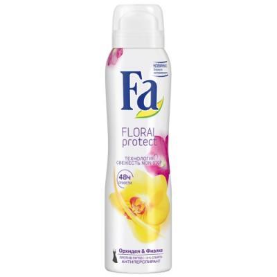 "Дезодорант-антиперспирант Fa ""Floral Protect"" 150 мл цветочный fa дезодорант антиперспирант аэрозоль floral protect мак"