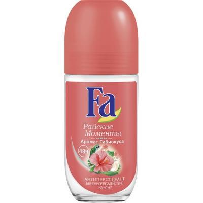 Дезодорант-антиперспирант Fa Райские моменты 50 мл цветочный дезодорант ролл 48 часов молодежный lavilin 65 мл hlavin