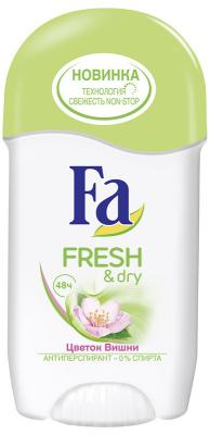 FA Дезодорант-антиперспирант стик Fresh&Dry Цветок Вишни 50мл в аптеке дезодорант dry dry в одессе