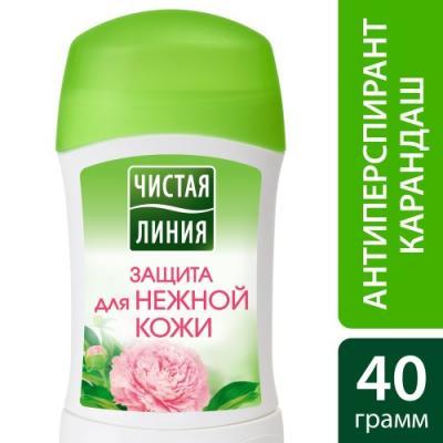 Дезодорант-антиперспирант Чистая Линия Защита для нежной кожи 40 мл цветочный 67272287 дезодорант антиперспирант чистая линия защита для нежной кожи 50 мл цветочный 67258344