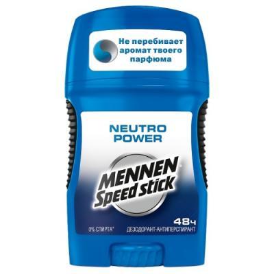 Дезодорант-антиперспирант Mennen Speed Stick Neutro Power 50 мл US00394A mennen speed stick дезодорант стик neutro power мужской 50 г