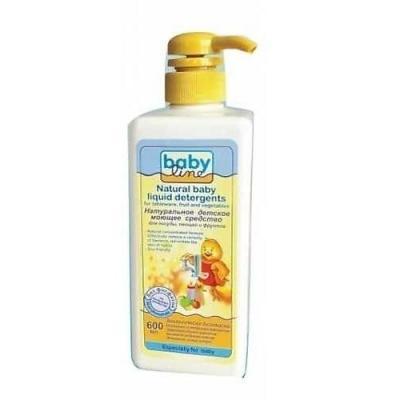 BABYLINE Натуральное детское моющее средство для посуды, овощей и фруктов, 600 мл. babyline