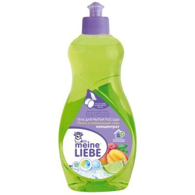 MEINE LIEBE Гель для мытья посуды Манго и освежающий лайм концентрат 500мл цена и фото