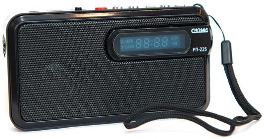 Радиоприемник Сигнал РП-225 черный радиоприемник rolsen rfm 330