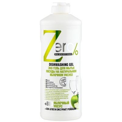 Средство для мытья посуды ZERO Яблочный уксус 500мл zero гель д мытья посуды натуральная горчица 500мл