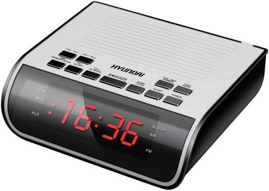 Радиобудильник Hyundai H-RCL100 белый