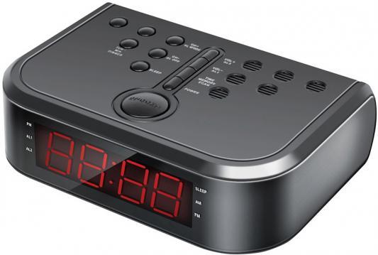 Радиобудильник Hyundai H-RCL120 чёрный радиобудильник uniel utp 49ykx