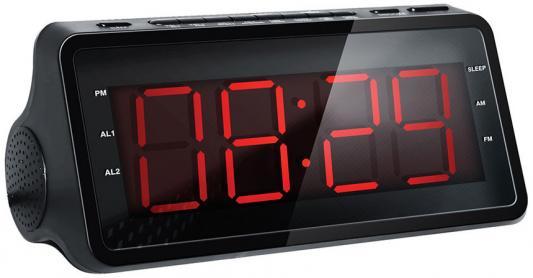 Радиобудильник Hyundai H-RCL140 чёрный