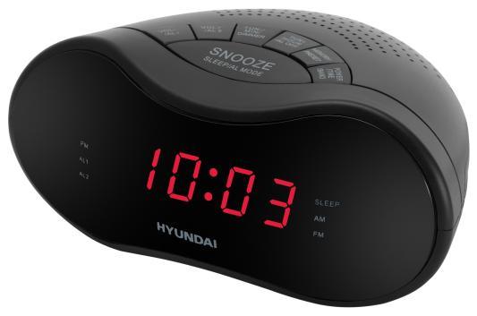 Радиобудильник Hyundai H-RCL160 чёрный радиобудильник philips aj3123 12 чёрный белый