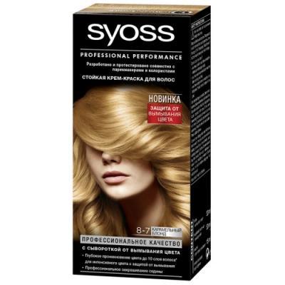 Syoss Color Краска для волос 8-7 Карам Блонд syoss color краска для волос 8 7 карам блонд
