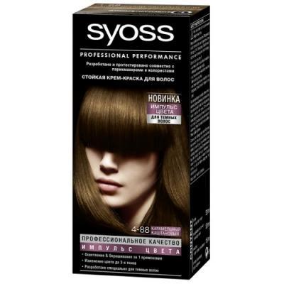 SYOSS Импульс Цвета Краска для волос 4-88 Карамельный каштановый 115мл спрей тонирующий syoss root retoucher черный 120мл активатор цвета