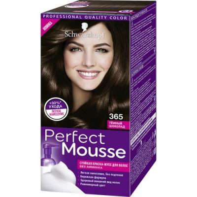 PERFECT MOUSSE Краска для волос 365 Темный шоколад мусс тонирующий тон 1 sand soft touch matt mousse essence